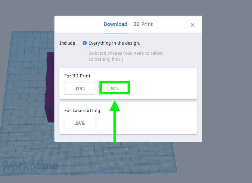 How to export STL files from Tinkercad – Level Up Village